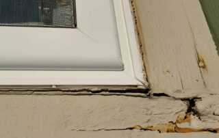 Common home inspection defect around exterior windows and trim